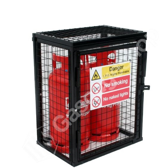 Static Gas Cylinder Storage Cage