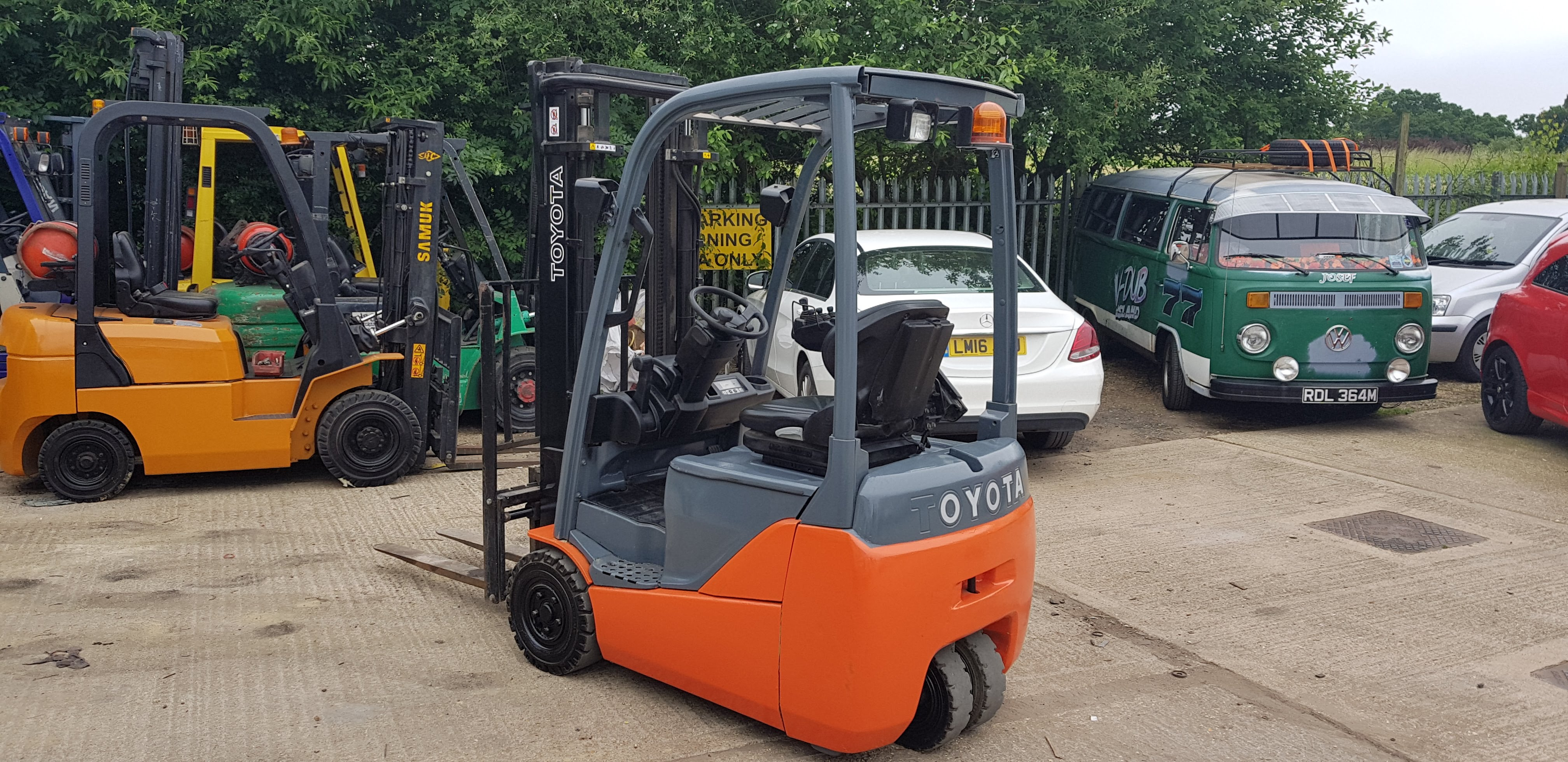 Toyota Electric Forklift 3 Wheel - FBET15